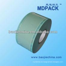 Bolsa de esterilización médica con carrete plano y sellado térmico