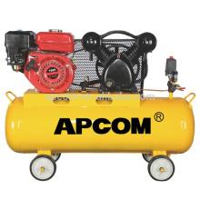 APCOM Heavy Duty Gasoline Portable 100L 150L Aircompressors 3hp 4hp 5hp 6hp 8-12.5bar portable petrol air compressor for repair