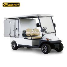 Carrito de golf eléctrico de 2 plazas con caja de carga hotelera
