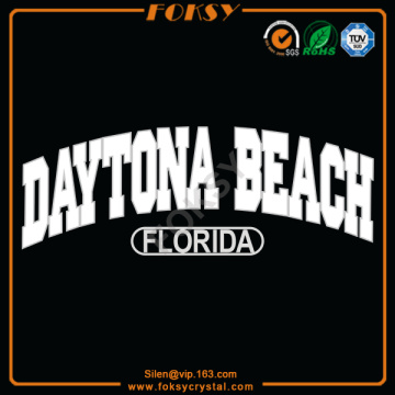 Daytona Beach Florida iron on satin transfers