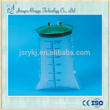 Disposable medical sterile 3000ml suction liner bag