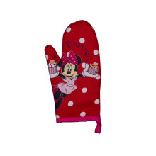 2018 kefei  New Cute Red Cartoon Oven Mitt Set