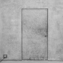 Nueva puerta de madera de diseño simple puerta interior puerta invisible para dormitorio