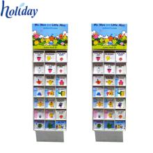 Estante de exhibición de cómic del piso, soportes de exhibición de encargo del libro de cartón para la venta