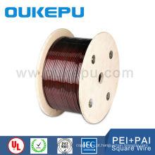 ISO NEMA Class200 cor preto vermelho awg fio esmaltou quadrada cobre