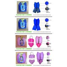 Custom Pink Lycra Kids Floating Swimwear / Children Swimming Vest For Young Boys Girls