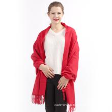 Fait sur commande en gros femmes couleur unie hiver tricoté pattren cachemire snood écharpe