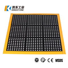 High Quality Interlocking Deck Rubber Anti Slip Drainage Mat 3*3