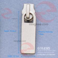 Tirador / deslizador con cremallera de níquel (G10-232S)