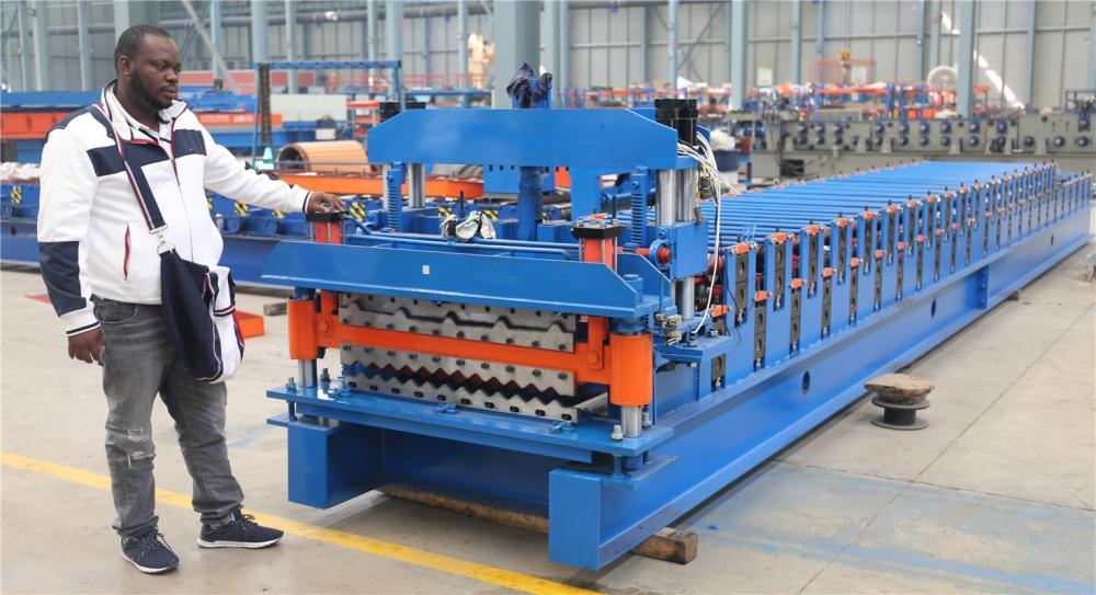 Διπλό Deck Steel Sheet Roll Forming Machine