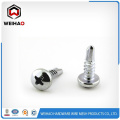 button head zinc plated self drilling screw