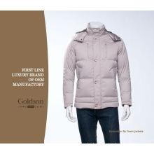 Hombres Moda Ganso Down chaqueta de invierno OEM en China Down Parkas