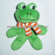 Factory Wholesale Fashionable Decorative Plush Frog Fridge Magnet