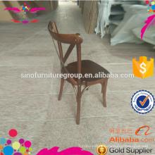 X cross back cadeira de jantar mobiliário industrial