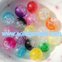 8-16MM Crystal Crack Acrylic Plastic Round Loose Spacer Beads