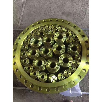 DIN PN10 Yellow Paint Plate Steel Flange