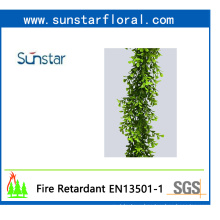 PE Plastic Boxwood Garland Artificial Plant for Home Decoration (48234)