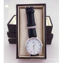 China Suppliers Genuine Leather Dw Watches Men Quartz Wrist Retail Watch