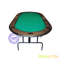 Full Size Bi-Fold Poker Table 84'' x 42'' x 30''h - Folds in half for compact storage