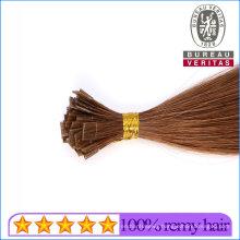 100% Brazilian Human Hair Kertain Prebonded Flat Tip Hair Extensions Remy Hair