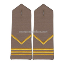 Gold Bar Custom Hand Embroidery Epaulettes