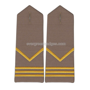 Gold Bar Custom bordados bordados Epaulettes