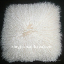 natürliches weißes Farbe mongolisches Pelztibet Lammfellkissen