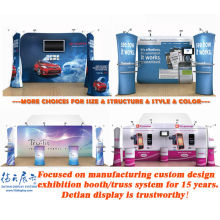 Portable trade show exhibition booth design and art exhibition display stands