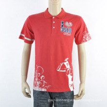 Fashion Red Men Polo Shirt with Printing