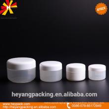 15ml 20ml 50ml 100ml frasco de crema cosmética de plástico blanco en stock