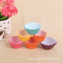 Different Colourful Cheap Disposable Paper Cake Cup