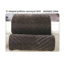 Hohe Steigung V-Muster Chevron Förderband