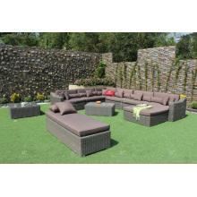 Synthetisches Rattan Großes Sofa Set Für Outdoor Garten Wicker Möbel
