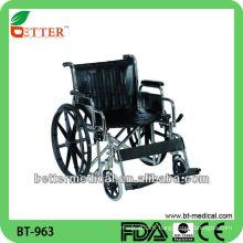 Chaise roulante en acier extra large