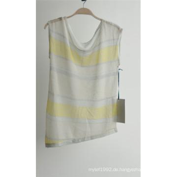 Damen-Mode Patterned Striped Sleeveless Pullover