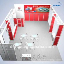 New fashion exhibit booth design, customized exhibition booth with shelfing