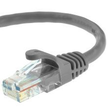 Cat5e UTP RJ45 Ethernet Patchkabel Kabel 15 Füße grau