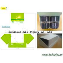 Коробки pdq оптический диск / компакт-диск из картона, подарочной коробке, Бумажная Коробка, рифленая Цвет Коробка дисплея картона pdq, Поп бумаги Дисплей, Ящик для счетчика pdq, Таблица pdq (B и C-D021)