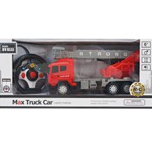 Cuatro caminos de luz de control remoto de camiones de bomberos de juguete