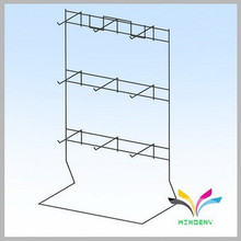 China supplier wholesale high quality new design metal counter sturdy revolving card display rack
