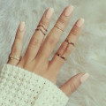 5pcs Fashion Rings Set Wedding Party Engagement Alloy Rings Jewelry Set