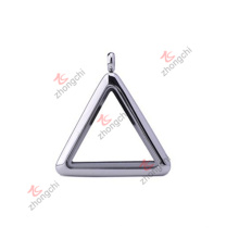 Mode Edelstahl Charms Anhänger Triangle Glas Lockets (CTL50925)