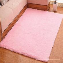 fausse fourrure 100% polyester rose shaggy tapis de poil coupé pour le salon