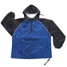 Venda Por Atacado Moda Mens impermeável casaco Windbreaker com capa