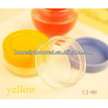 plastic face cream jar for cosmetic packaging