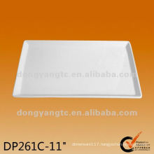 11 Inch plain white ceramic cheese plate