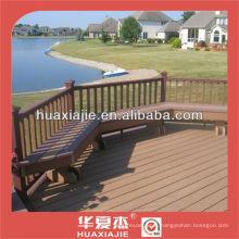 Revêtement de sol en plein air wpc / pvc en bois composite en poudre