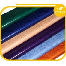 Tela rizada del damasco de la tela del brocado de Guinea del damasco del riche de Bazin al por mayor