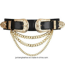 Latest Popular Fashion Women Vintage Double Buckle Belt