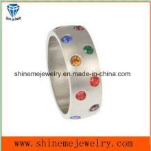 Wholesale Natural Stone Stainless Steel Fashion Jewelry Ring